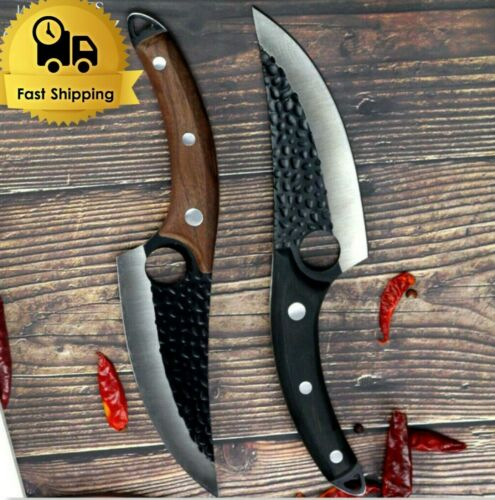 Premium Control Chefs Knife Hand Forged Boning Knife with Sheath Butcher Knives