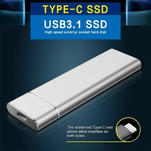 2TB 1TB Externe SSD Festplatte USB 3.1 Type-C Tragbare Mobile Solid State Drive