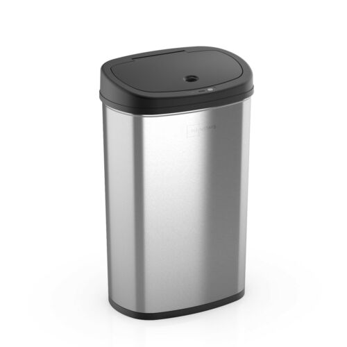 Mainstays, 13.2 Gal/50 L Motion Sensor Trash Can, Stainless Steel