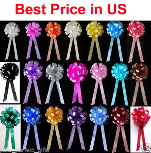 """20 pcs 8"""" Pew Bows Christmas Gift Wrap Holiday Party WEDDING PULL PEW BOWS CHAIR"""