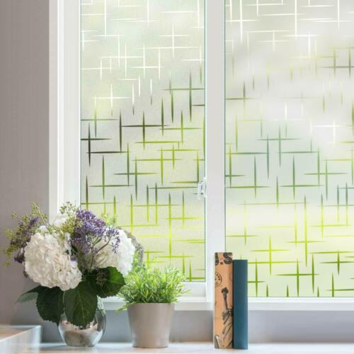 Rabbitgoo Frosted Window Film Privacy Glass Static Cling 3D Decorative Sticker