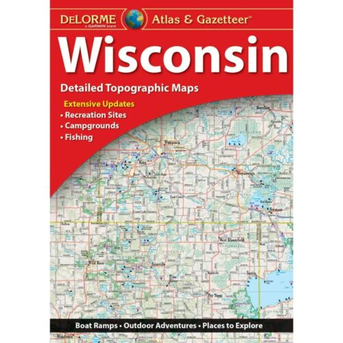 Delorme Wisconsin WI Atlas & Gazetteer Map Newest Edition Topo / Road Maps