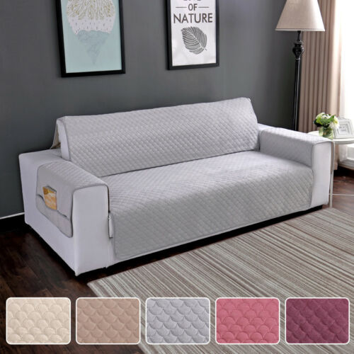Quilted Sofa Cover Waterproof Chair Couch Slipcover Pet Dog Kids Protector Mat