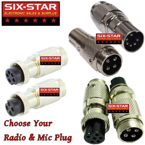 MIC ADAPTER CONVERTS ANY COBRA WIRED MIC TO MOST CB & 10 METER RADIOS SEE MENU