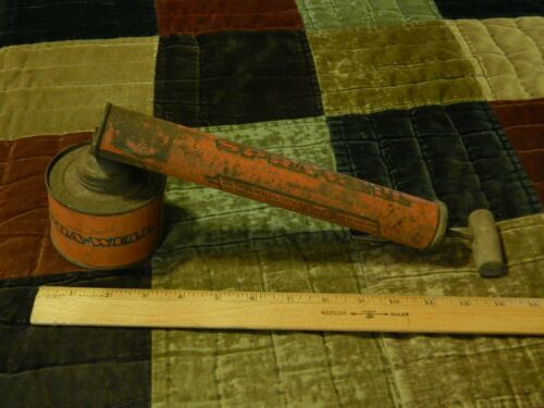 SPRA-WELL {Montclair, New Jersey} Wood Handle BUG SPRAYER 1950s USA Retro Ltd