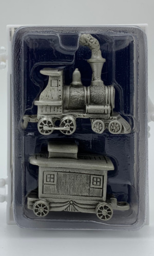 Lasting Expressions - Pewter Train Set Caboose Letters Numbers People Christmas
