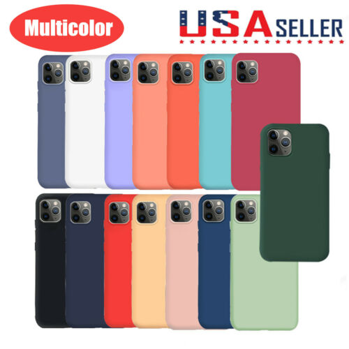 Soft Liquid Silicone Shockproof Matte Back Case Phone Cover For iPhone Upgrade