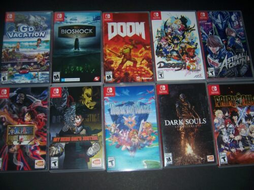 AUTHENTIC & ORIGINAL Replacement Case Box Nintendo Switch Games - MANY TITLES!