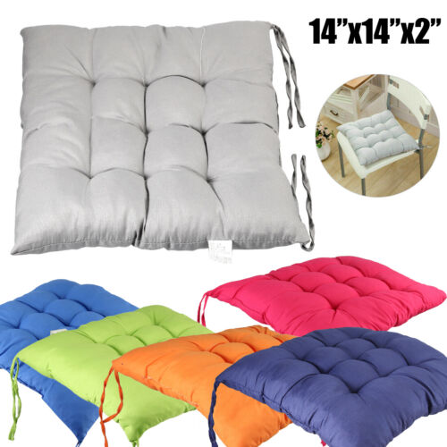 """4Pcs Chair Cushion Pads 2"""" Thick Cotton Seat Square Patio Office Home Soft Mats"""