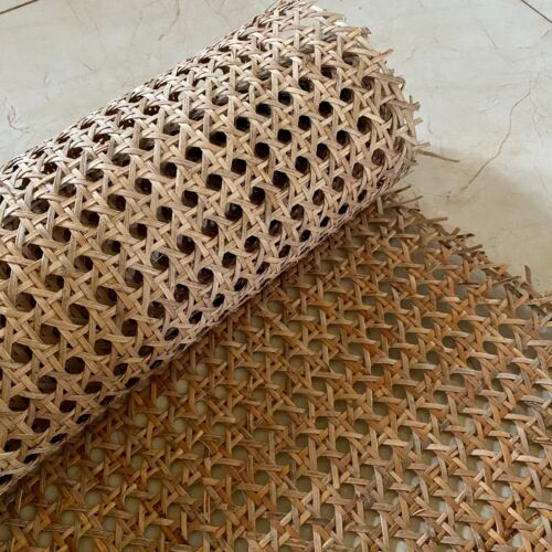 """18"""" Wide, NATURAL Hexagon Weave Rattan Cane Webbing, Caning Chair."""