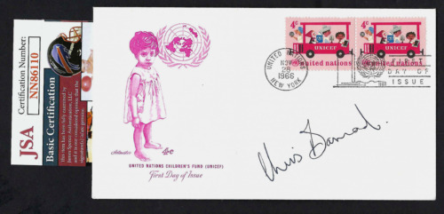 Christiaan Barnard signed cover JSA Authenticated Performed 1st Heart Transplant