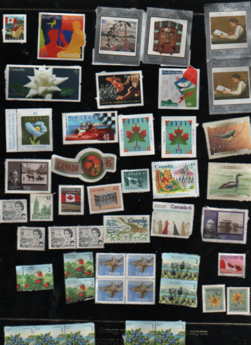46 Canada Stamps ALL uncancelled & SOME duplicates F.V.$9.66