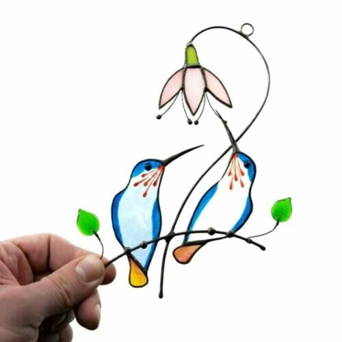 Birds Hummingbird for Stained Glass Window Hanging Panel Decor Ornament Gift