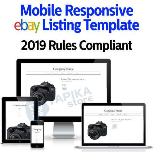 Template Ebay Listing Auction 2021 Html Design Responsive Professional Mobile