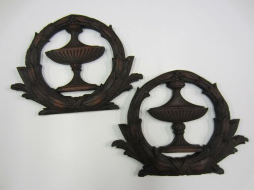 ANTIQUE PAIR OF CARVED ORNAMENTATIONS/APPLIQUES  (#25)