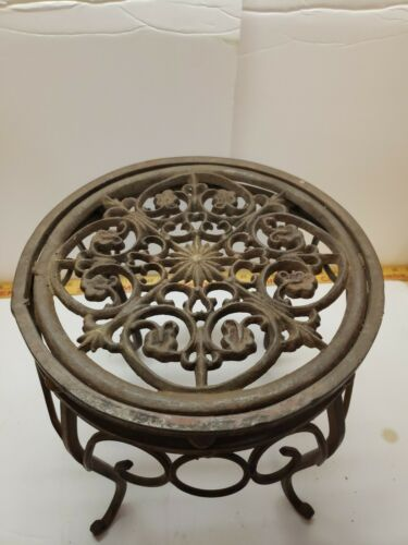 Cast And Wrought Iron Plant Stand Antique