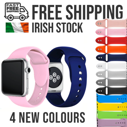 Apple Watch Strap Silicone Replacement Straps Series SE/6/5/4/3/2/1