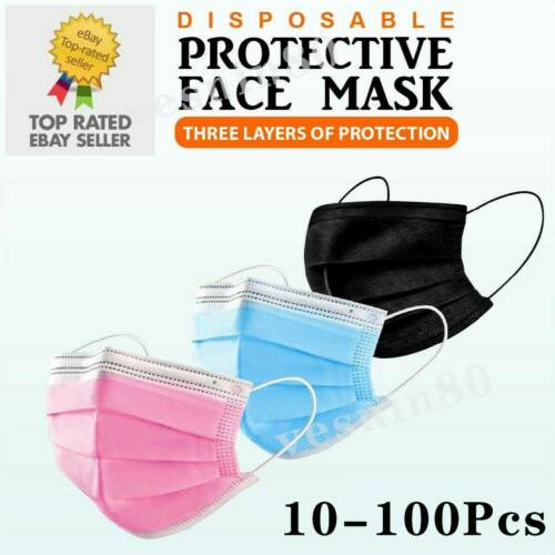50/100PCS Face Mask High Protective 3 Layer Mouth Masks Disposable Mask Surgical