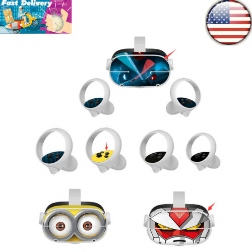 For Oculus Quest 2 VR Glasses PVC Decal Stickers Skin Cover Touch Controller#US