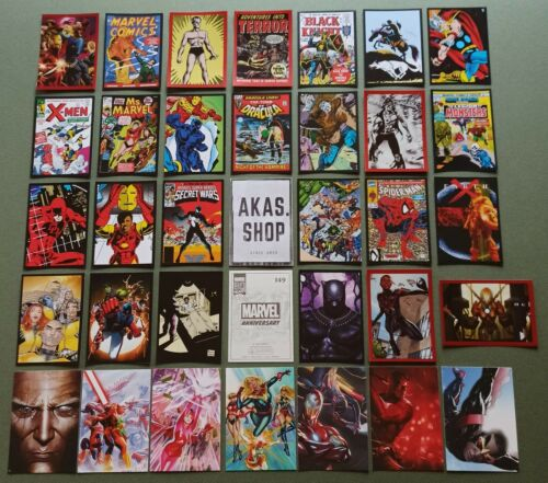 Marvel 80 Years Anniversary Stickers and Trading Cards PANINI No 1- 192 + C 1-50