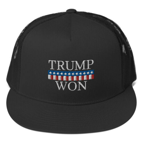 Trump Won Hat (Embroidered Trucker Cap) Election Republican Gift