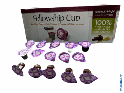 Broadman Church Pre-Filled Communion Cup, Juice & Wafer Set (Pack of 15)