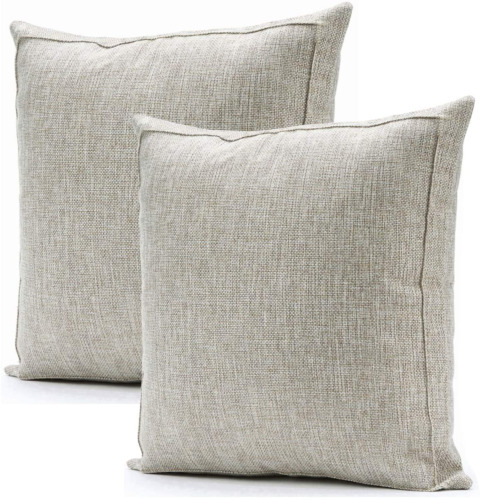 Jepeak Burlap Linen Throw Pillow Covers Cushion Cases, Pack Of 2 Farmhouse Moder