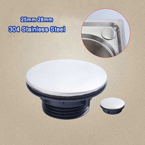 304 Stainless Steel Kitchen Soap Dispenser Sink Tap Hole Blanking Plug Cover Cap