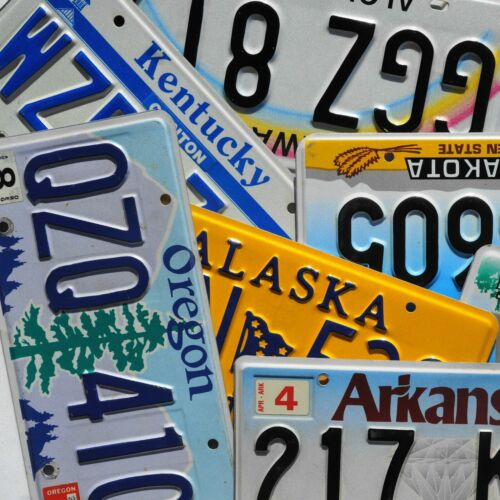 License Plate - ALL 50 STATES + Territories Countries Good License Plates Lot