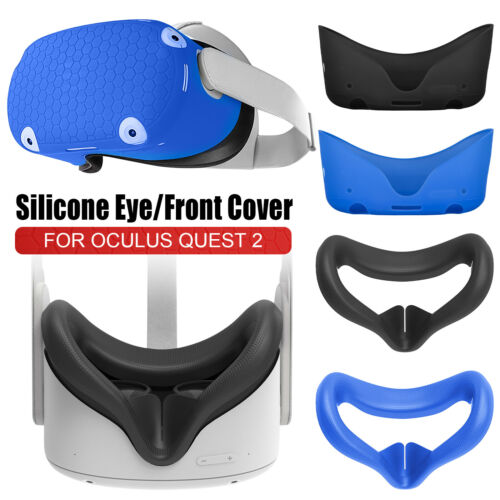 Protective Shell Front Cover Case Face Cushion Pad for Oculus Quest 2 VR Headset