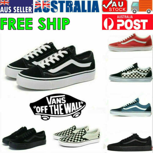2021 VANS Old Skool Skate Shoes Black All Size Classic Canvas Running Sneakers