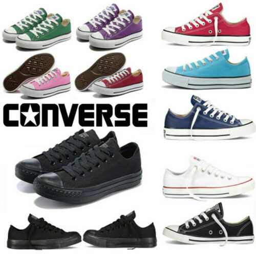 All Star Converse Unisex Chuck Taylor High Top Black Lace Up Canvas Trainers AU
