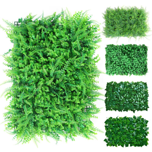 """24""""x16"""" Artificial Boxwood Panels Hedge Plant Garden Privacy Screen Grass Wall"""