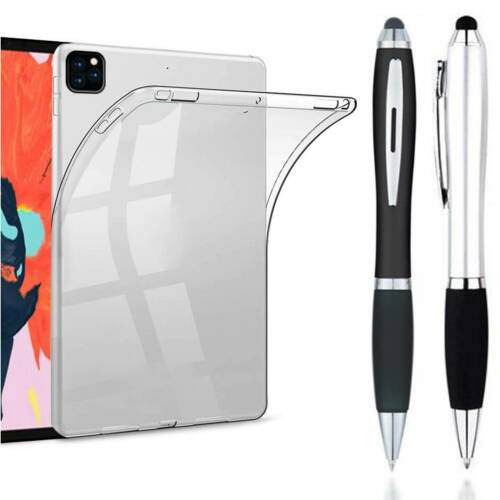 Stylus + Clear Protective Case Armor Saver Guard Shield For iPad Pro 12.9 (2021)