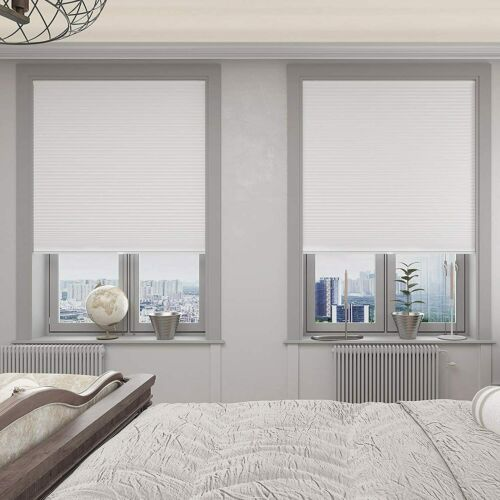 Changshade Cordless Light Filtering 1.5'' Cellular Window Shades White