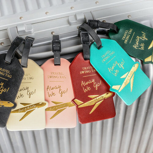 Aircraft PU Leather Luggage Tag Portable Label Suitcase  Travel Accessories P3