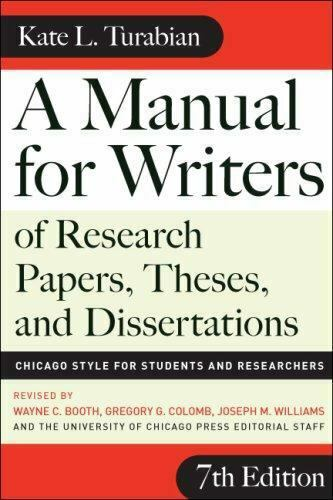 Chicago Guides to Writing, Editing, and Publishing Ser.: A Manual for Writers of