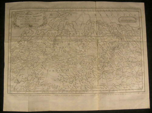 Siberia Ladoga Lake Arctic Circle Moscow c.1800 scarce antique engraved map