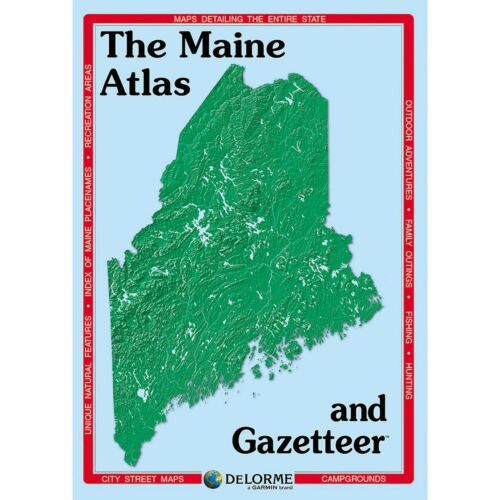 Delorme Maine ME Atlas & Gazetteer Map Newest Edition Topographic / Road Maps