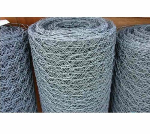 """Galvanized Poultry Net - Metal Mesh Fencing / Chicken Wire 1"""" Holes"""