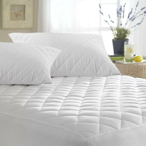 Extra Deep Quilted Mattress Bed Protector Fitted Sheet Cover Double King Size