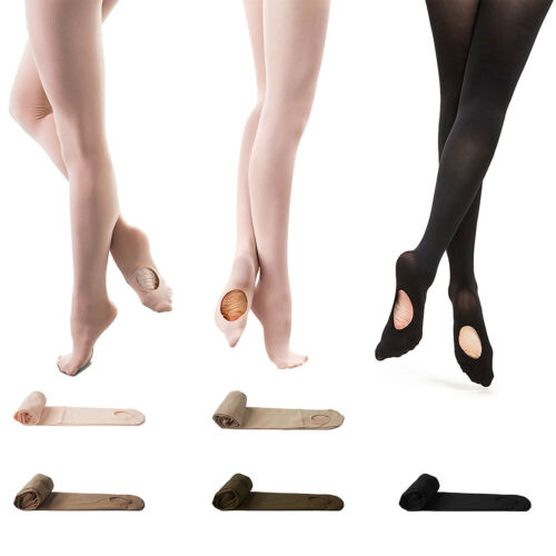 Soft Ballet Dance Tights Professional Convertible Footed Dance Socks