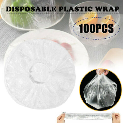 100PCS Disposable Cover Plastic Bags Dustproof Fresh- Keeping Food Sealed Bowls