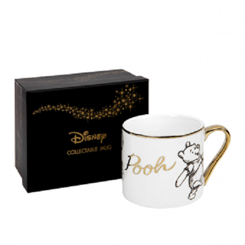 DISNEY COLLECTABLE WINNIE THE POOH GOLD RIM MUG FROM WIDDOP & CO