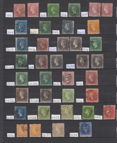 St Vincent 1861/97 Collection Used & Mint Mounted Cat £4600 Aprox