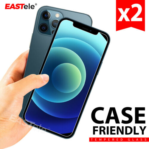 2xTempered Glass Screen Protector For Apple iPhone 12 11 Pro XS Max XR 8 Plus SE