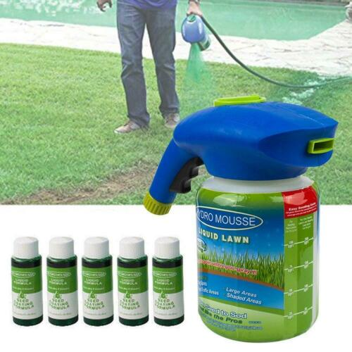Hydro Mousse Household Seeding System Liquid Spray Seed Lawn Care Grass Shot New