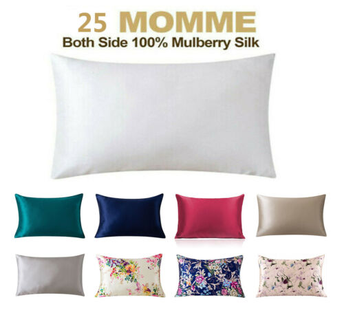 100% Pure Mulberry Silk Bed Pillowcase with Hidden Zipper 25 Momme Pillow cases
