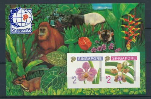 [2821] Singapore 1995 orchids good sheet very fine MNH imperf val $105