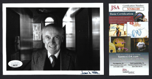 James Watson signed 5x7 photo JSA Authenticated Nobel Prize DNA